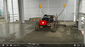 Masterscreed MS550 - laser screeding on multi level concrete floor