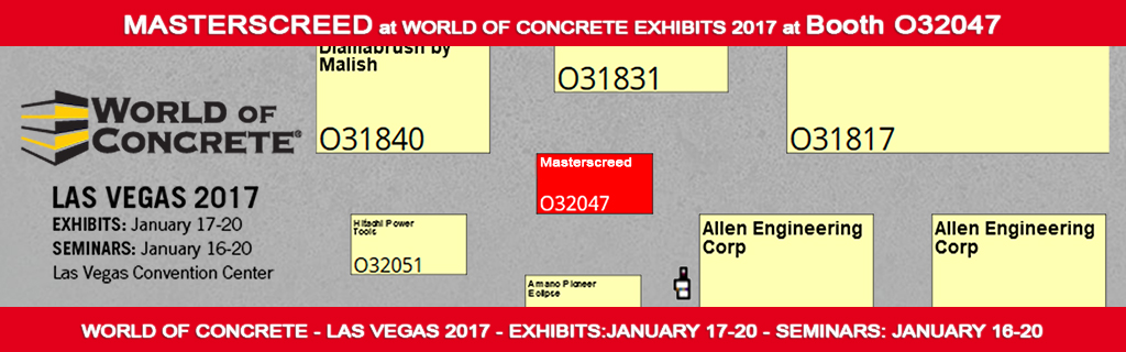 Masterscreed at world of concrete exhibition 2017