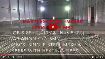 Masterscreed MS550 with LevMaster MK3
