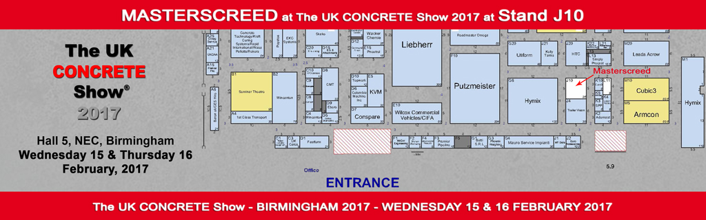 Masterscreed at The UK Concrete Show 2017