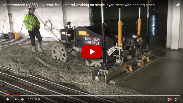 Masterscreed MS550 exterme level control