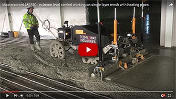 MS550 - Single steel mesh and underfloor heating pipes