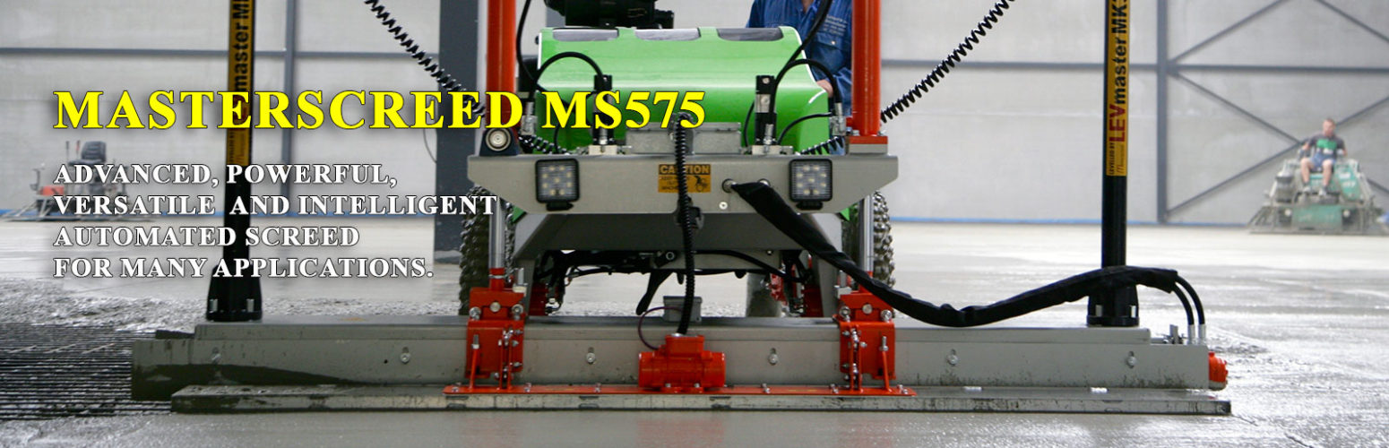 MS575 - Advanced, Powerful, Versatile and Intelligent Automated Screed For Many Applications