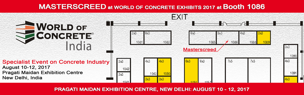 Masterscreed at The India Concrete Show 2017