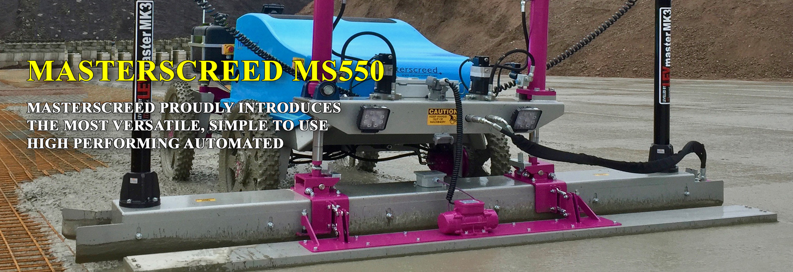 MS550 – Automated Concrete Laser Guided Screed