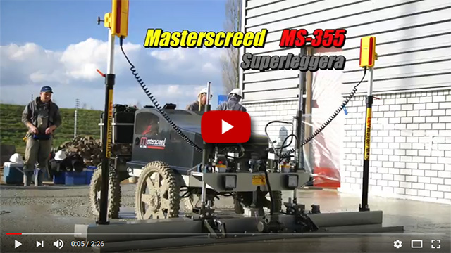 Masterscreed MS355 with LevMaster MK5