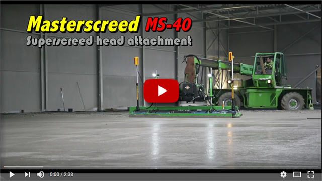 Masterscreed MS-40 Superscreed head attachment