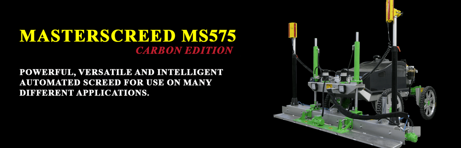 MS575 Carbon Edition - Advanced, Powerful, Versatile and Intelligent Automated Screed For Many Applications